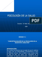 PSICOLOGÌA DE LA SALUD - INTRODUCCIÒN. Dr. Vargas