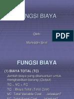 FUNGSI BIAYA