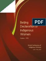 Beijing Declaration of Indigenous Women