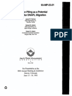 Foundation Piling as a Potential Conduit for DNAPL Migration, Jun 93