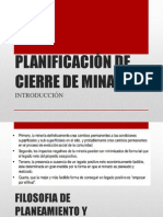 PLANIFICACIÓN DE CIERRE DE MINAS