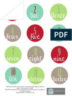 Christmas Advent Numbers - Free Printable