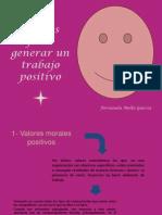 Señales para generar un trabajo positivo