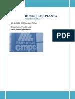 Costos de Cierre de Planta