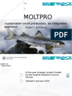 Jörgen Johnsson (University of Gothenburg) The Smoltpro programme in Sweden