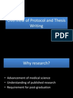 Protocol and Thesis Writing