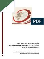 02-12-13 Informe Interparlamentaria México-Canada