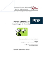 EspecificacaoRequisitos Parking Manager