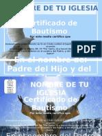 Certificados de Bautismo