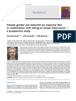 Female gender pre-selection by maternal diet in combination with timing of sexual intercourse – a prospective study