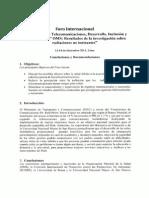 Conclusiones Foro Antenas Telecomuniaciones
