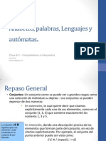 Clase #2 - Alfabetos, palabras, lenguajes y autómatas