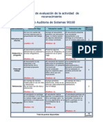 Rubrica de Evaluacion de La Tarea de Reconocimiento 2010 2 Auditoria de Sis