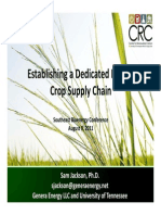 Establishing a dedicated energy crop supply chain
