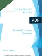 3.1 Modelos estáticos y dinámicos