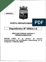 Declaración de Interés Departamental para Programa TOMATE BIEN