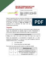 Como resolver tablas de valores de la verdad (lógica)