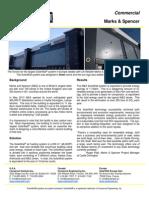 SolarWall Case Study - Marks & Spencer Distribution Center - solar air heating system