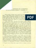 Kruse. Cornelius Tendencias Actuales de La Filosofia en Los Estados Unidos y Canada