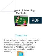 Adding and Subtracting Mentally PPT
