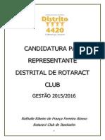 Proposta de candidatura de Nathalie Alonso.