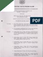 Peraturan Daerah Kota Pagar Alam Nomor 14 Tahun 2003 Tentang Rencana Tata Ruang Wilayah Kota Pagar Alam