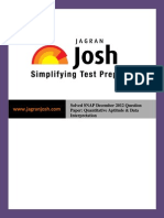 Question Papers Sample Papers Solved SNAP Dec 2012 Question Paper Quantitative Aptitude & Data Interpretation