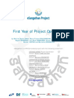 eSangathan-First Year of Project Operations