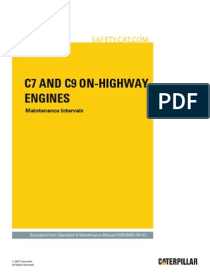 c7-c9 on Highway Engines-maint Intervals | Battery