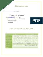 4 EVALUACIÓN DE PÁGINAS WEB