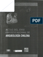 Actas del XVIII Congreso Nacional de Arqueología Chilena