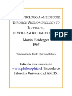 Heidegger, Martin - Carta Prologo Al Libro de William Richardson