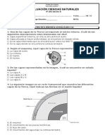 evaluación CAPAS DE LA TIERRA