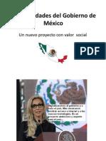 Las prioridades del Gobierno de México