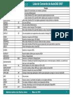 Lista Comandos AutoCAD 2007