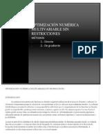 Optimizacion Numerica Multivariable Sin Restricciones