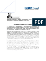121.Local Business Taxes.fdd.12.10.09
