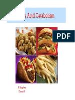 New 5 Fatty Acid Catabolism