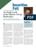 When a Securities Firm Fails_rebuilding Success Spring 09 An