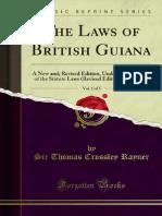 The Laws of British Guiana v1 1000282720