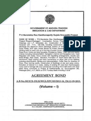 Kanthanapally Agreement Vol-i, II, III & IV   Dam   Spillway