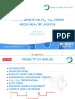 Delta Tester 9424 Training Module