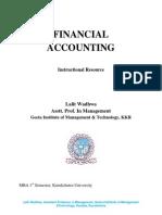 Financial Acccounting MBA KUK