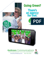 Going Green? There's an agency for that.  GoGreen Communications.