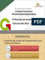 Presentación Campo formativo, pensamiento matemático