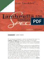 Lambretta Instruction Booklet 150 Manual