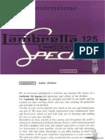 Lambrettta Instruction Li125S manual