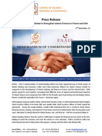 Press Release on A New Venture Established to Strengthen Islamic Finance in France and USA