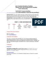ADMS 3585 Fall 2013 Course Outline Updated With Tutorials