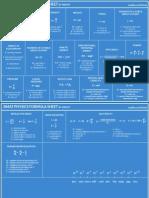 Bmat Physics Formula Sheet